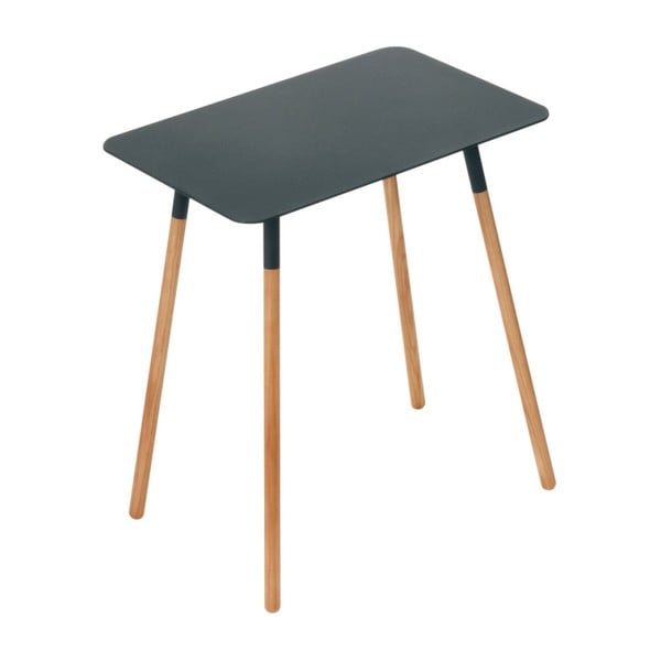 Černý odkládací stolek YAMAZAKI Plain, 45x30cm