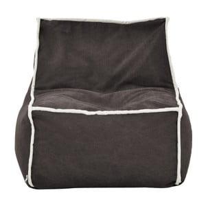 Antracitový modulový sedací vak s krémovým lemem Poufomania Funky