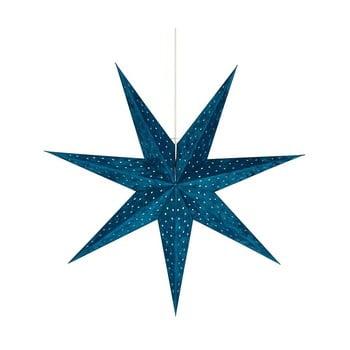 Decorațiune luminoasă suspendată Markslöjd Velouros, ø 75 cm, albastru imagine