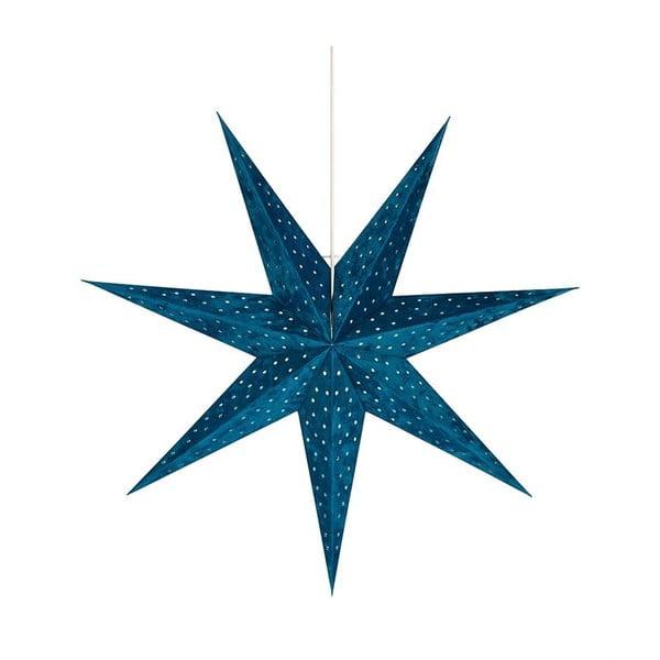 Niebieska wisząca dekoracja świetlna Markslöjd Velours, wys. 75 cm