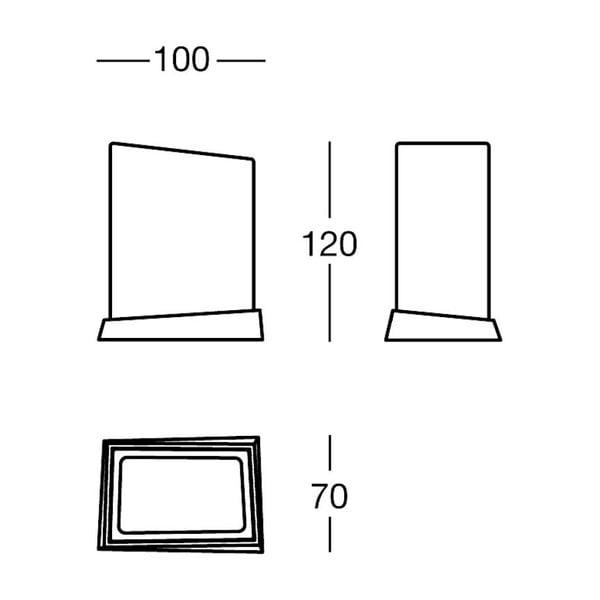 Držák White&Black Glass, 10x12x7 cm
