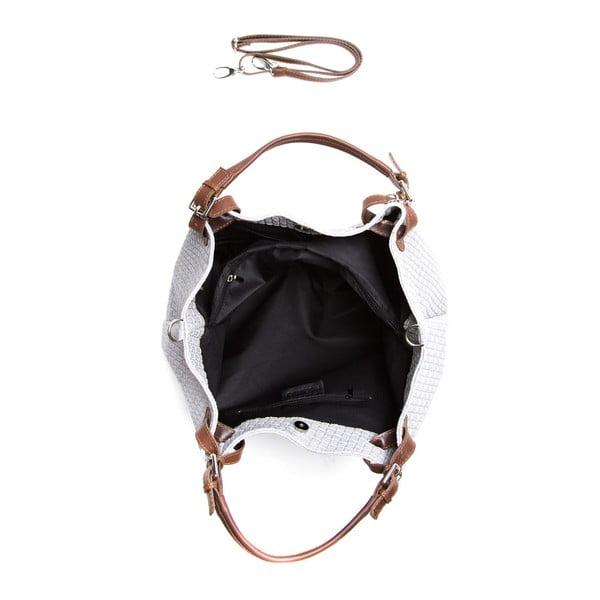 Kožená kabelka Isabella Rhea 8019 Grigio