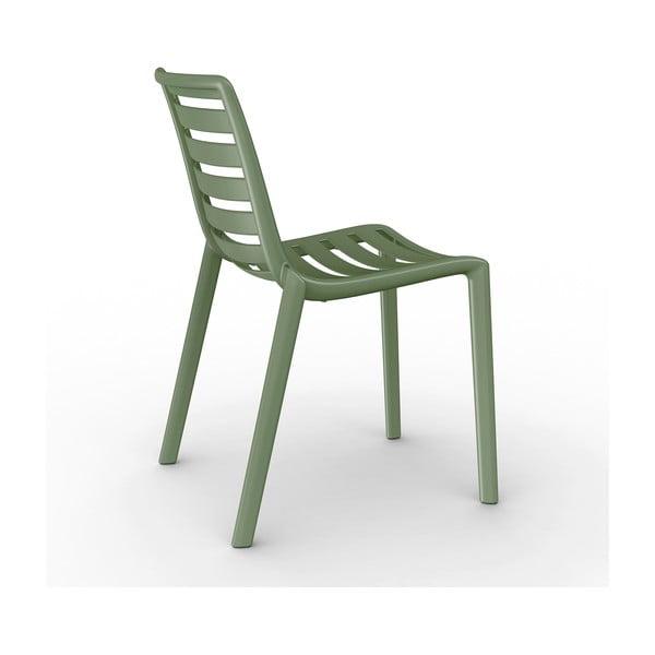 Sada 2 olivově zelených zahradních židlí Resol Slatkat