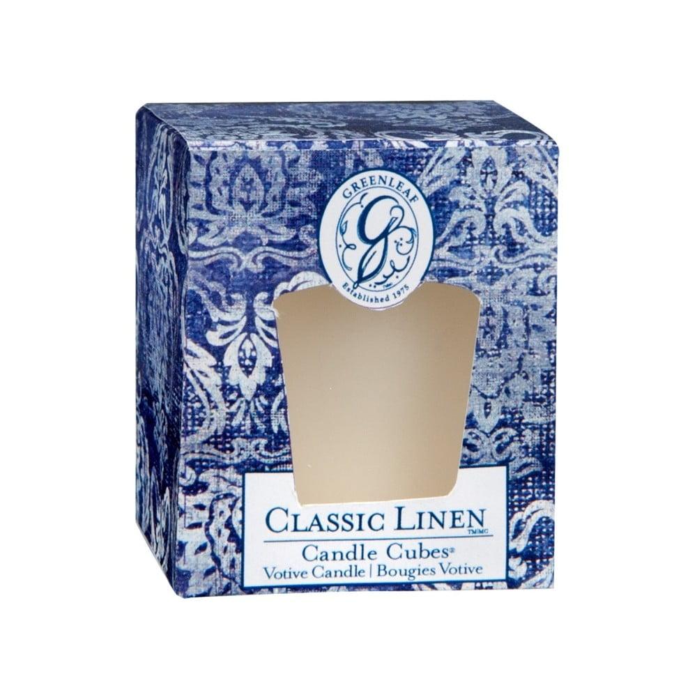 Svíčka s vůní lnu Greenleaf Classic Linen, doba hoření 15 hodin