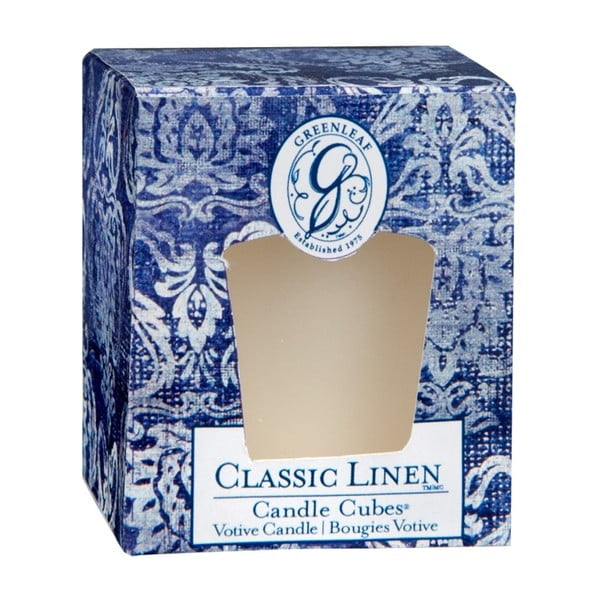 Sviečka s vôňou ľanu Greenleaf Classic Linen, doba horenia 15 hodín