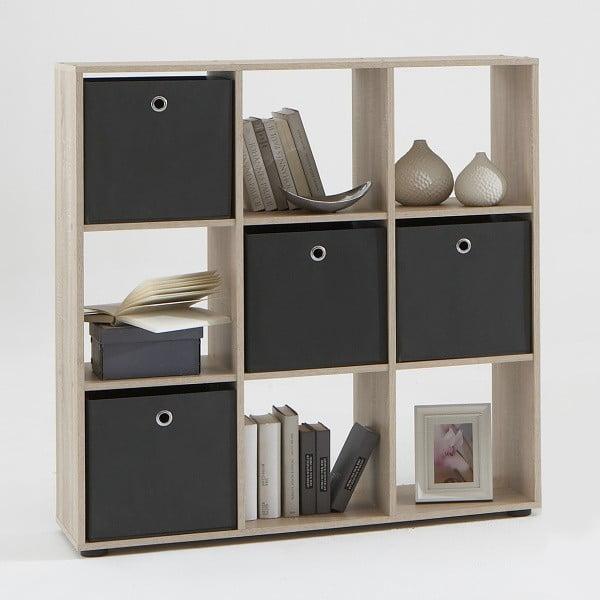 Knihovna Mega 104x108 cm, dub
