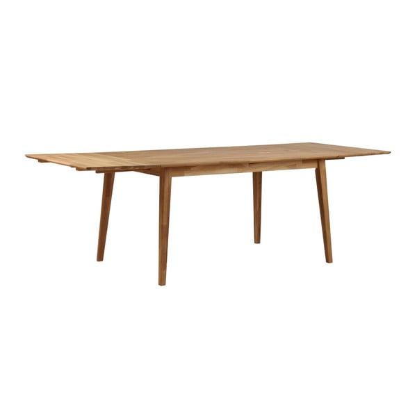 Masă din lemn de stejar Rowico Mimi, lungime 140cm