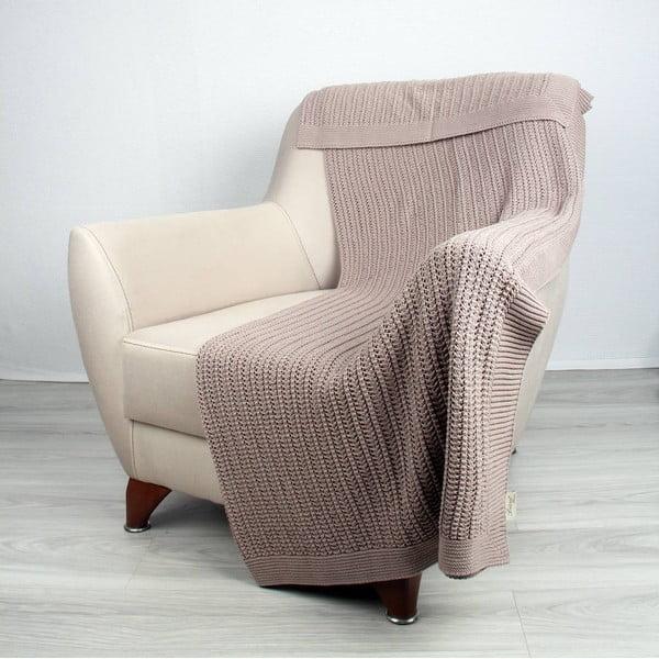 Béžová bavlněná deka Homemania Clen,170x130cm