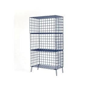 Tmavě modrá kovová úložná skříňka Really Nice Things, 56 x 100 cm