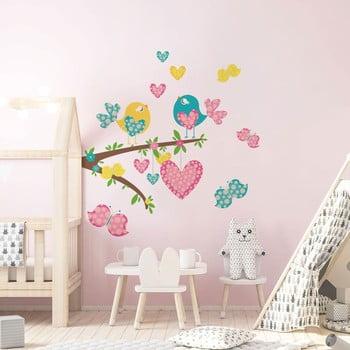 Set autocolante de perete pentru camera copiilor Ambiance Cute Little Birds de la Ambiance