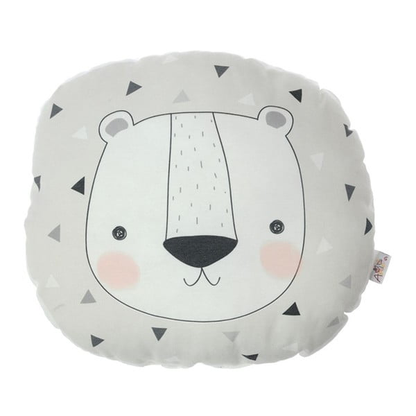 Pernă din amestec de bumbac pentru copii Apolena Pillow Toy Argo Bear, 30 x 33 cm
