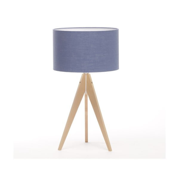 Stolní lampa Arist Dark Blue/Natural