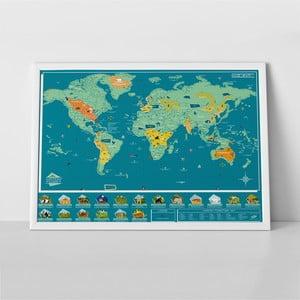 Seškrabávací mapa světa Luckies of London Wild World