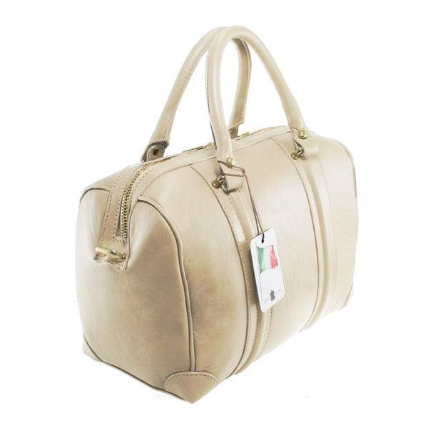 Béžová kožená kabelka Boston