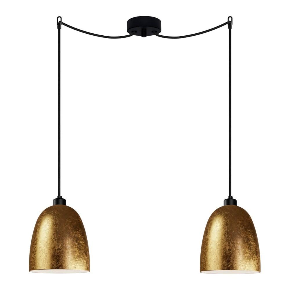 Zlato-černé dvojité svítidlo Sotto Luce AWA Elementary 2S