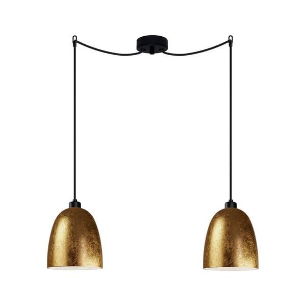 Dvojité stropní svítidlo ve zlaté barvě Sotto Luce AWA Elementary 2S