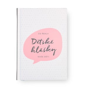 Růžový zápisník se záložkou na dětské hlášky Bloque.