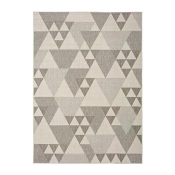 Covor pentru exterior Universal Clhoe Triangles, 140 x 200 cm, bej-gri imagine