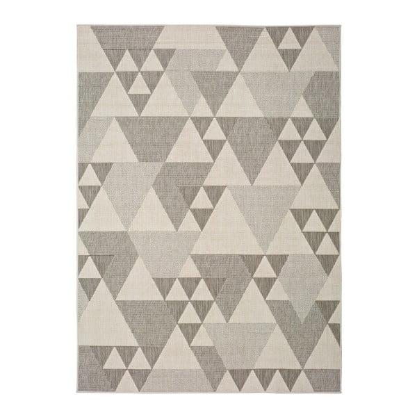 Covor pentru exterior Universal Clhoe Triangles, 120 x 170 cm, bej-gri