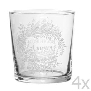 Sada 4 sklenic Amour, 500 ml