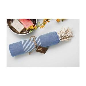 Hammam osuška Line Blue, 100x180 cm