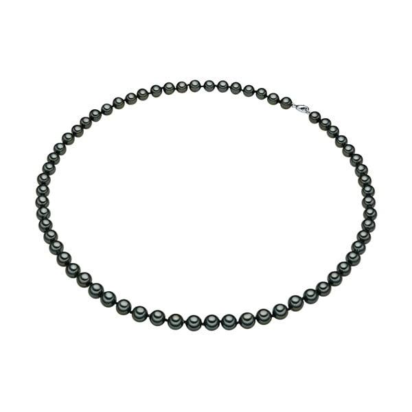 Perlový náhrdelník Muschel, zelené perly 8 mm, délka 60 cm