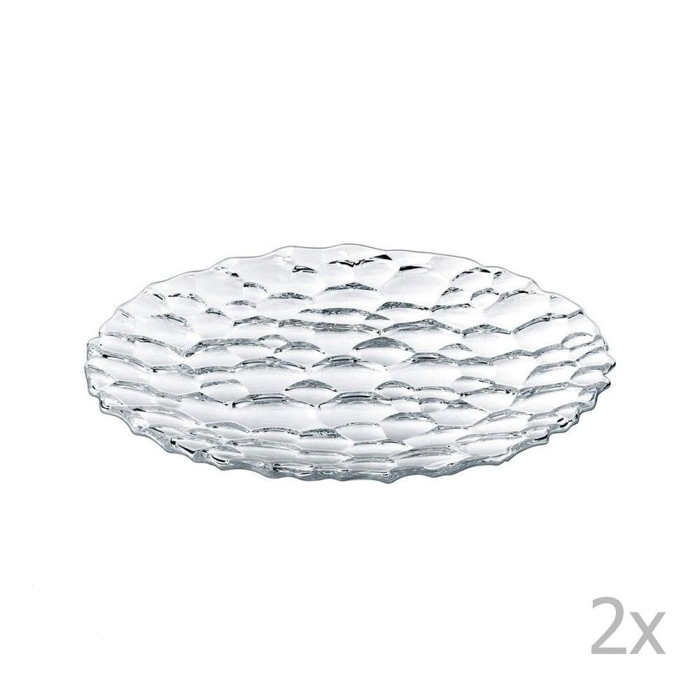 Sada 2 dezertních talířů z křišťálového skla Nachtmann Sphere, ⌀ 23 cm