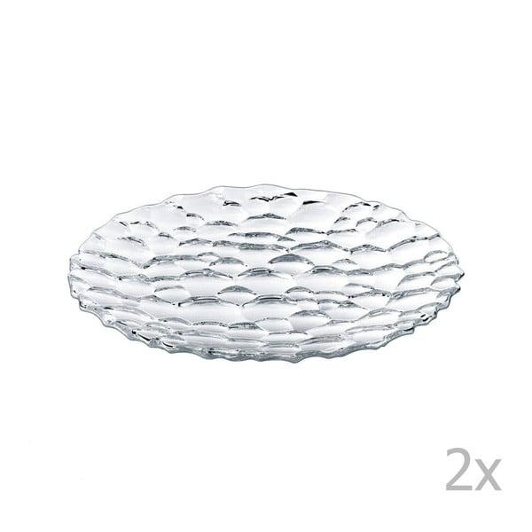 Sada 2 dezertních talířů z křišťálového skla Nachtmann Sphere, ⌀23cm