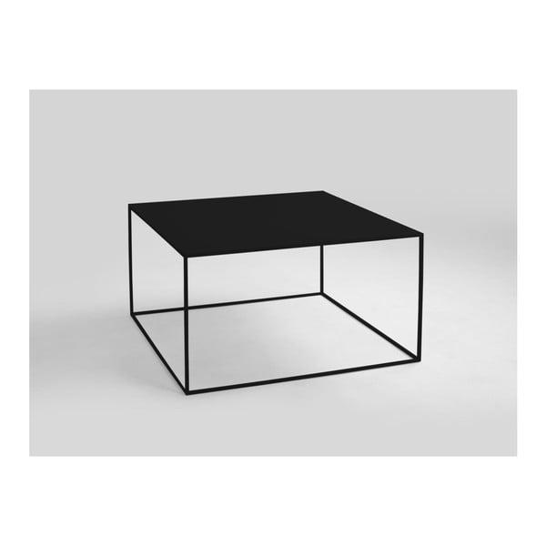 Tensio fekete dohányzóasztal, 80 x 80 cm - Custom Form