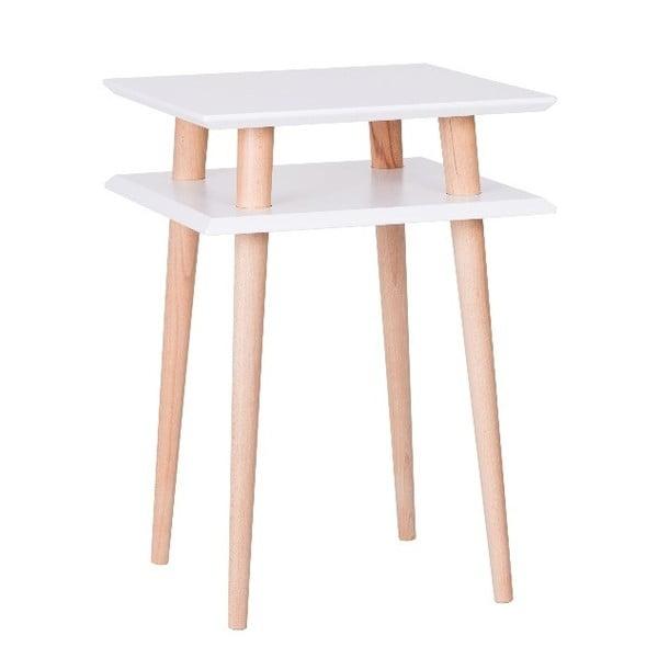 UFO Square White dohányzóasztal, 43 cm (szélesség) és 61 cm (magasság) - Ragaba