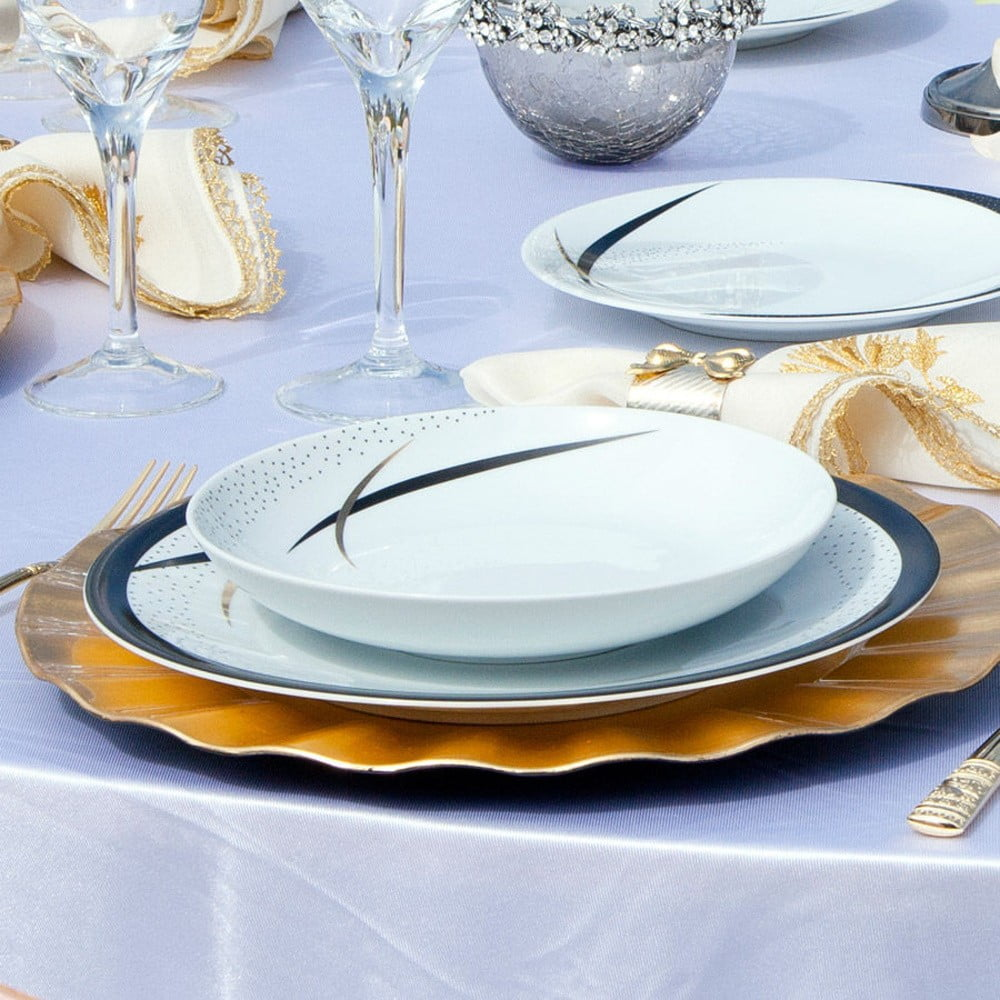 65dílná sada nádobí z porcelánu Kutahya Oceania