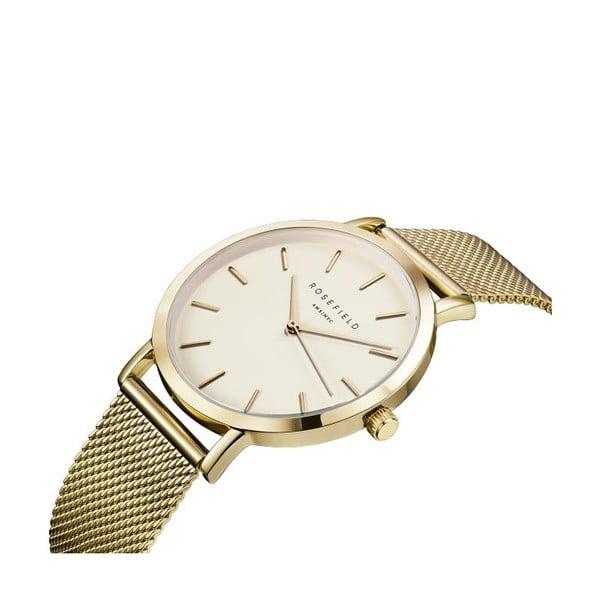 Bílozlaté dámské hodinky Rosefield The Mercer