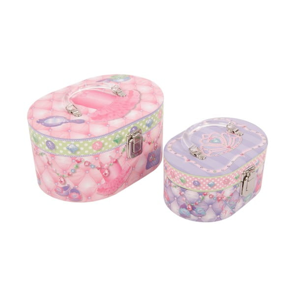 Sada 2 úložných krabic Princess