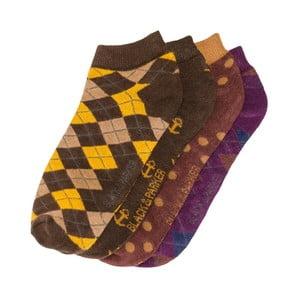 Sada 4 párů kotníkových unisex ponožek Black&Parker London Gordon,velikost37/43