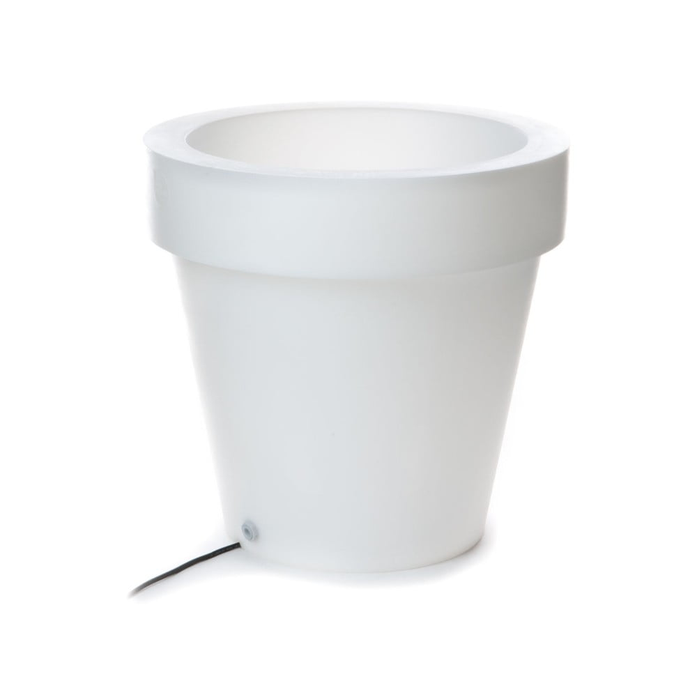 Bílý květináč s podsvícením Tomasucci Classic, ⌀ 60 cm