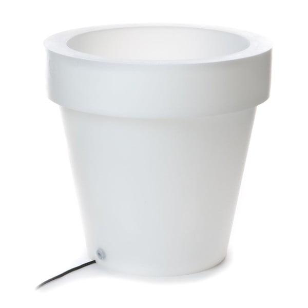 Ghiveci luminat Tomasucci Classic, Ø 60 cm, alb