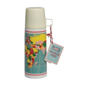 Termos cu cană Rex London World Map, 350 ml