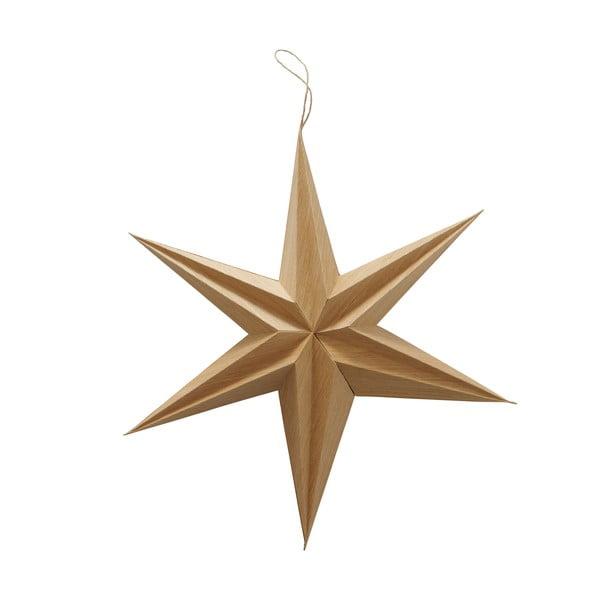 Brązowa wisząca dekoracja świąteczna w kształcie gwiazdy Boltze Kassia
