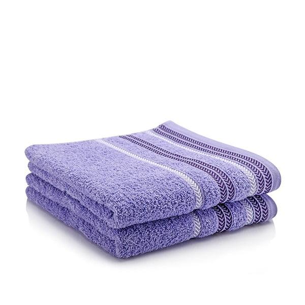Sada 2 ručníků Hugo Lavender, 70x140 cm
