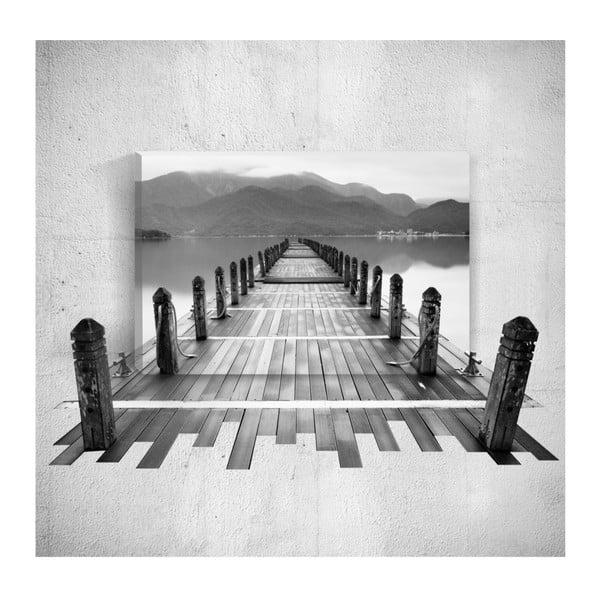 Nástěnný 3D obraz Mosticx BW Dock, 40 x 60 cm