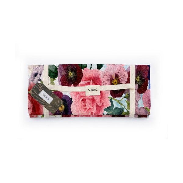 Manta Picnic Flowers piknik pléd, 140 x 170 cm - Surdic