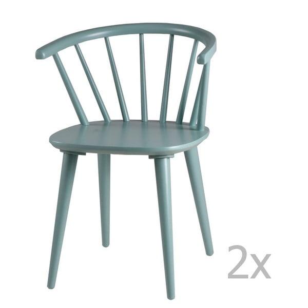 Zestaw 2 miętowych krzeseł sømcasa Anya