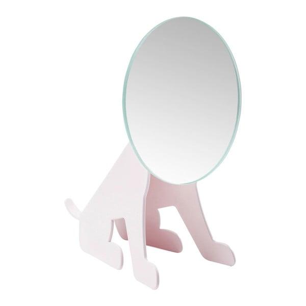 Růžové stolní zrcadlo Kare Design Dog