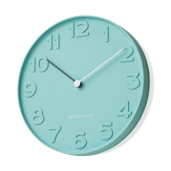 Modré nástěnné hodiny Numbers