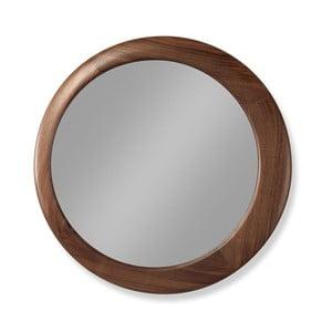 Nástěnné zrcadlo s rámem z ořechového dřeva Wewood - Portuguese Joinery Luna, Ø60cm