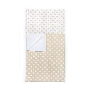Dětské béžové puntíkaté bavlněné povlečení YappyKids Dot, 100x135cm