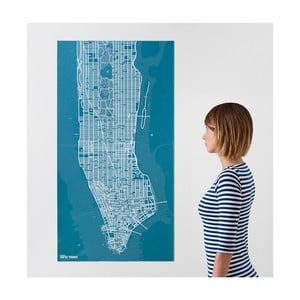Modrá nástěnná mapa Palomar Pin New York