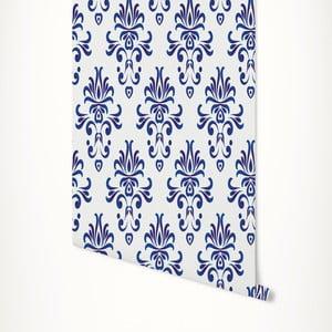 Modro-bílá samolepicí tapeta LineArtistica Grace, 60 x 300 cm
