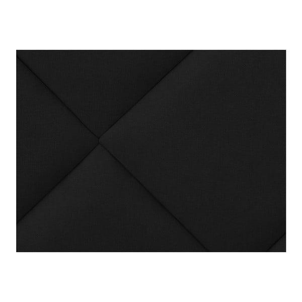 Černé čelo postele Windsor & Co Sofas Superb, 140 x 120 cm