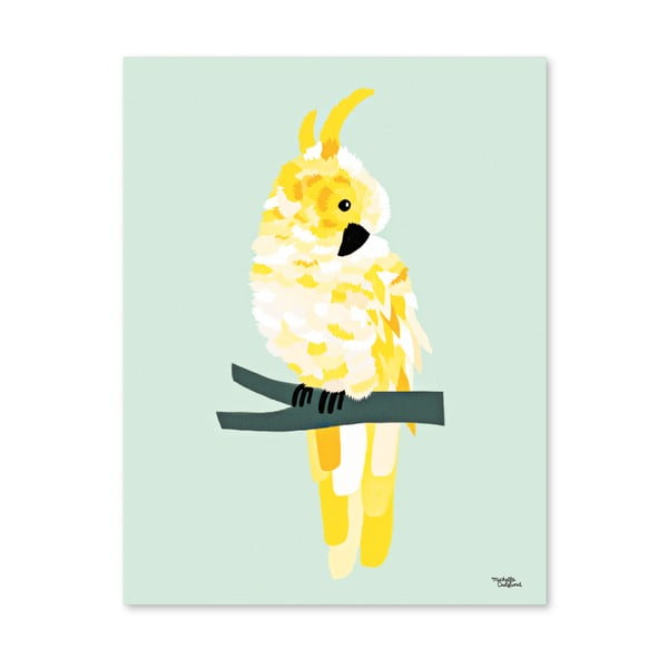 Plakát Michelle Carlslund Yellow Cockatoo, 30 x 40 cm